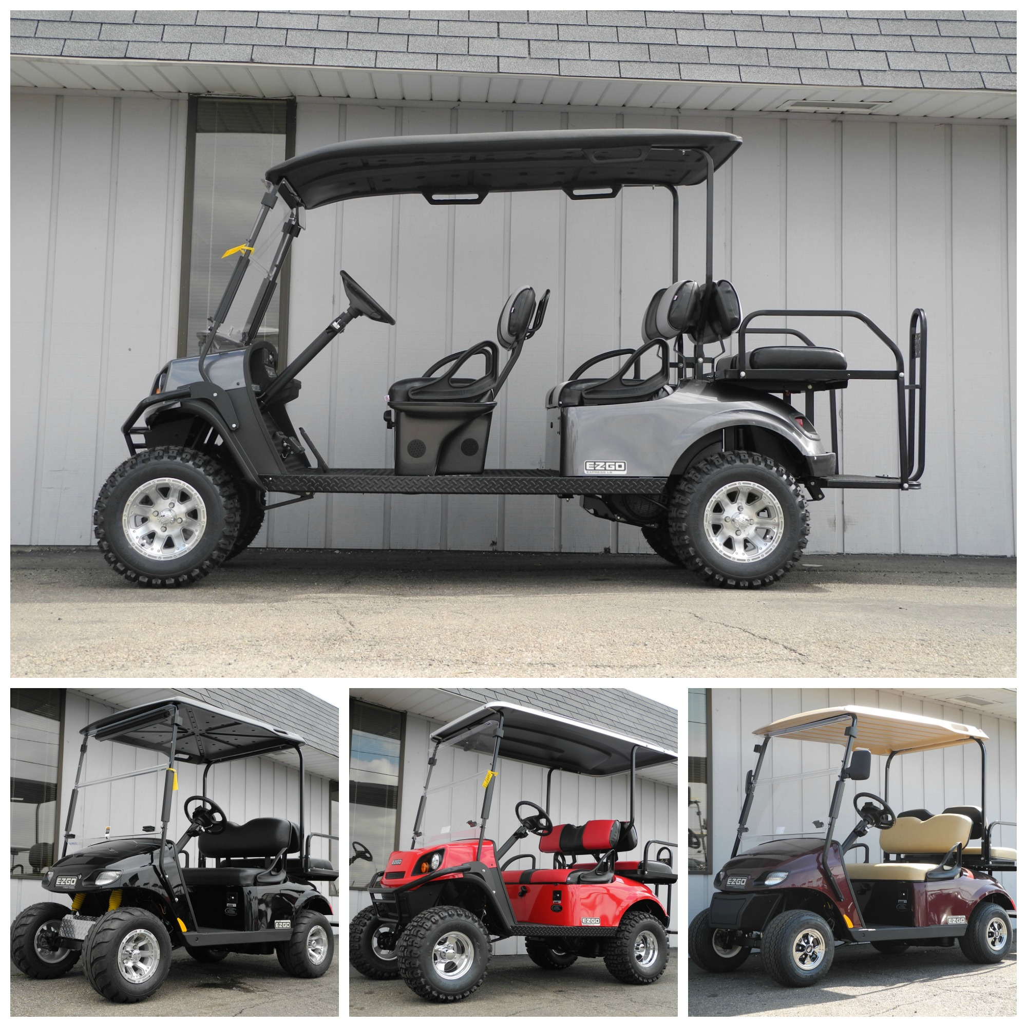 E-Z-GO golf cars for sale in Ohio. We are Dayton, Ohio's factory-authorized dealer of new E-ZGO golf cars.