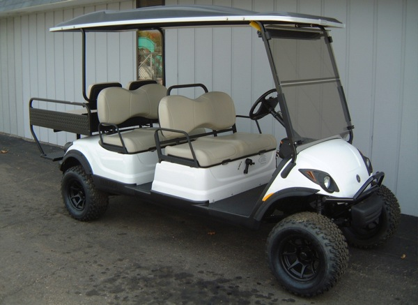 We are the leading Dayton/Southwest/Central Ohio dealer of new and used gas and electric golf cars, extreme custom golf carts, lifted golf carts, street-legal golf carts, LSVs, powersport products, side-by-side UTVs, ATVs, go karts, snowmobiles, and all types of powered equipment, parts, and accessories (including Extend-A-Haul, American SportWorks, Generac generators, golf cart snow plows, passenger trams, convertible bimini tops, tool and storage boxes, PermaGreen Triumph, AltFuel propane conversions, Cricket electric vehicles, and much more).  Click here to view our photo gallery!
